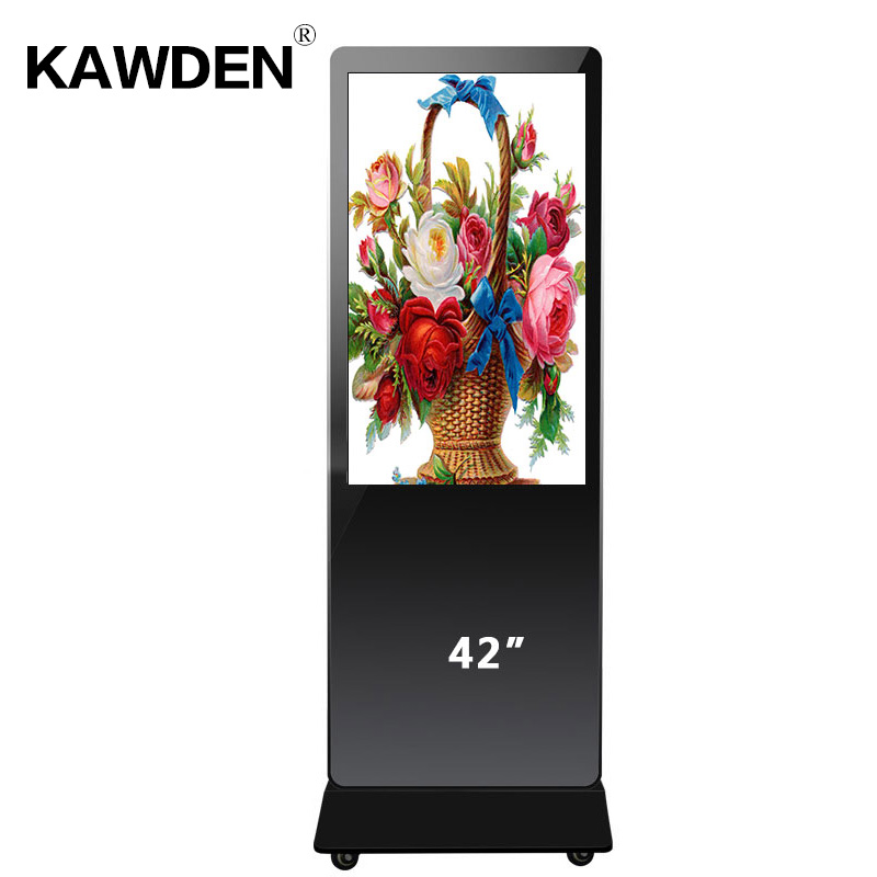 42inch stand-floor high definition android system multimedia LCD touch screen qu