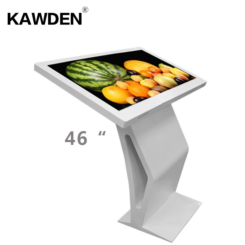 46inch K type high definition PC system multimedia LCD touch screen query machin