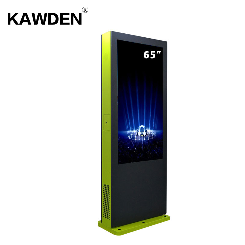 65inch KAWDEN stand-floor air-conditioner system vertical screen kiosk