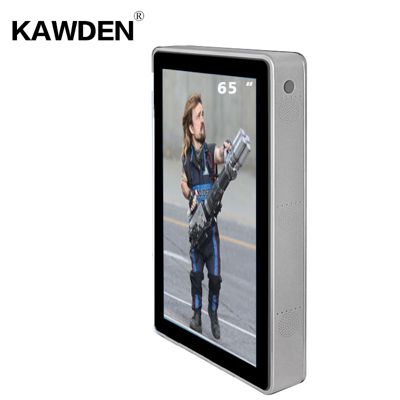 65inch KAWDEN wall-mounted air-conditioner type vertical screen kiosk