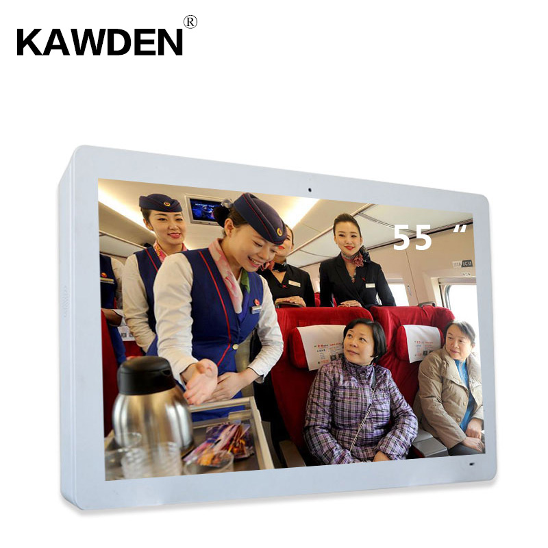 55inch KAWDEN wall-mounted air cooled horizontal screen kiosk