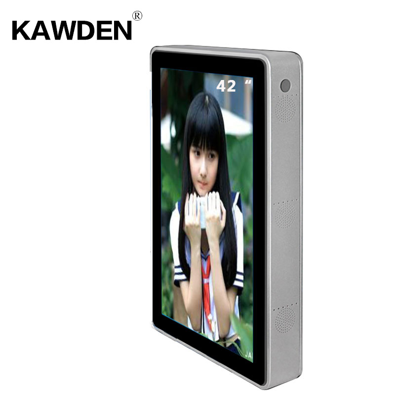 42inch wall-mounted air-conditioner type vertical screen kiosk